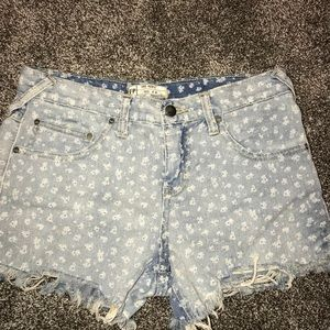 COPY - Free People Floral Shark Bite Shorts